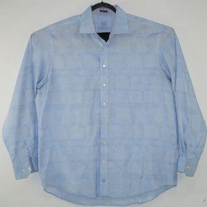 Bugatchi Men's Long Sleeve Blue Shirt Size XXL